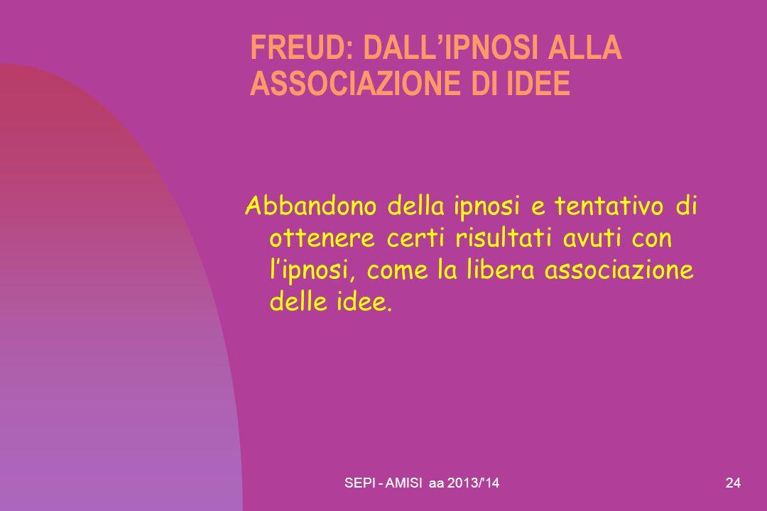 FREUD: DALL'IPNOSI ALLA ASSOCIAZIONE DI IDEE