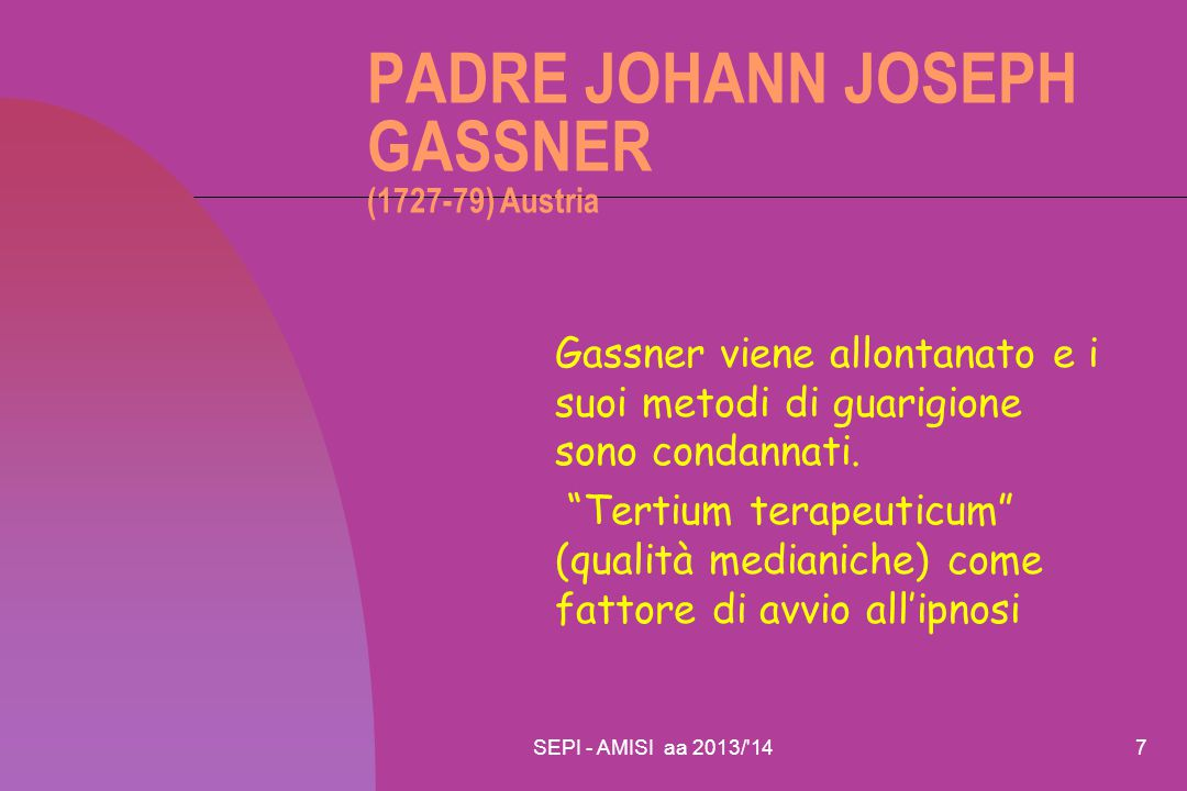 PADRE JOHANN JOSEPH GASSNER (1727-79) Austria