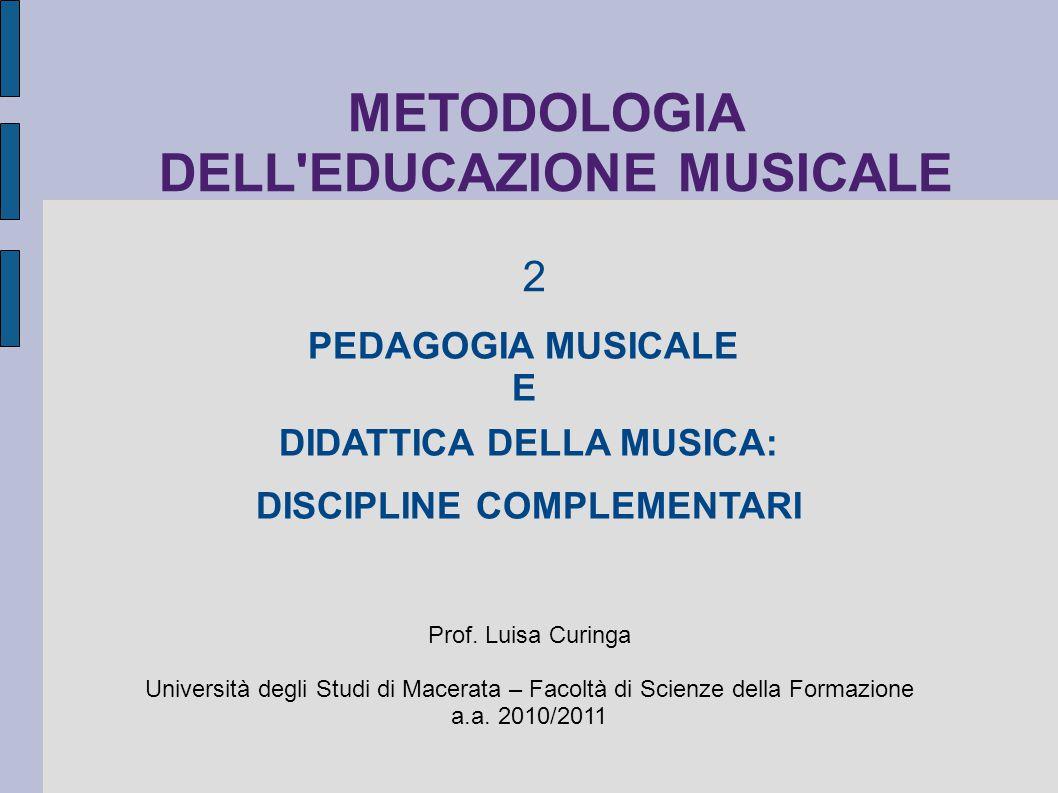 METODOLOGIA DELL EDUCAZIONE MUSICALE