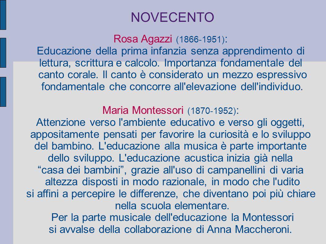 NOVECENTO Rosa Agazzi (1866-1951):