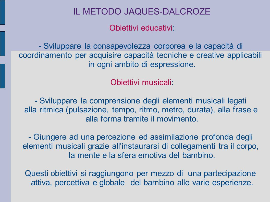 IL METODO JAQUES-DALCROZE