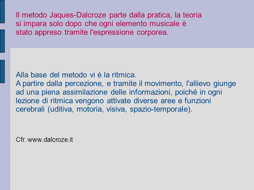 Il metodo Jaques-Dalcroze parte dalla pratica, la teoria