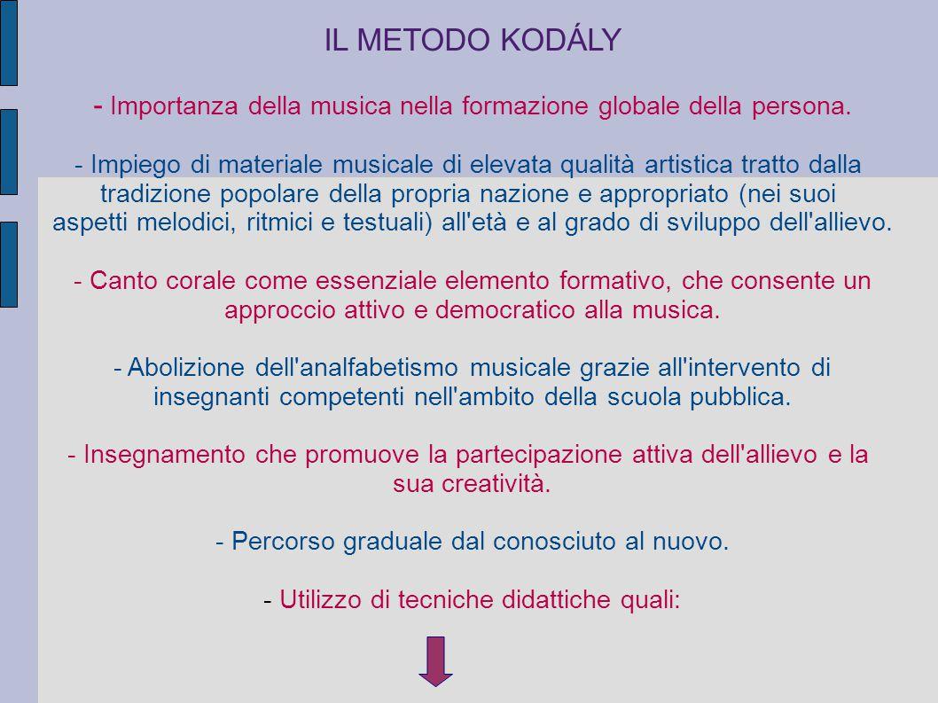 IL METODO KODÁLY - Importanza della musica nella formazione globale della persona.