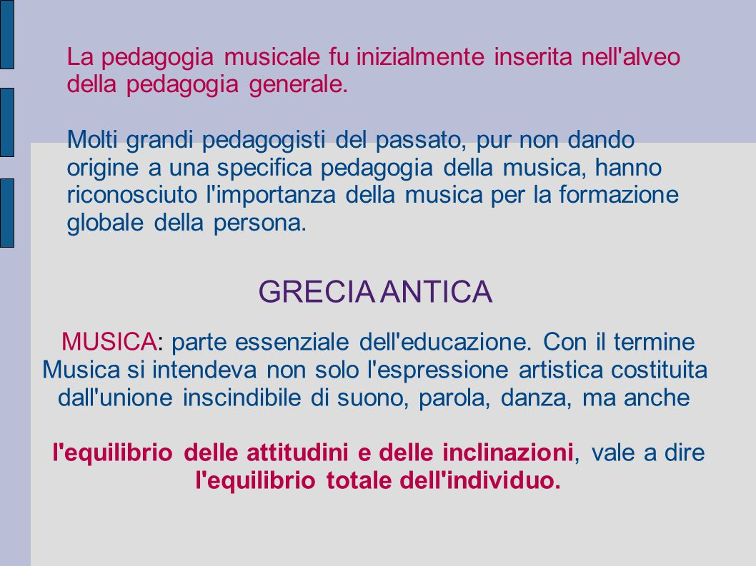 l equilibrio totale dell individuo.