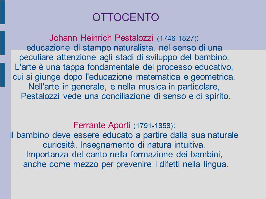 OTTOCENTO Johann Heinrich Pestalozzi (1746-1827):