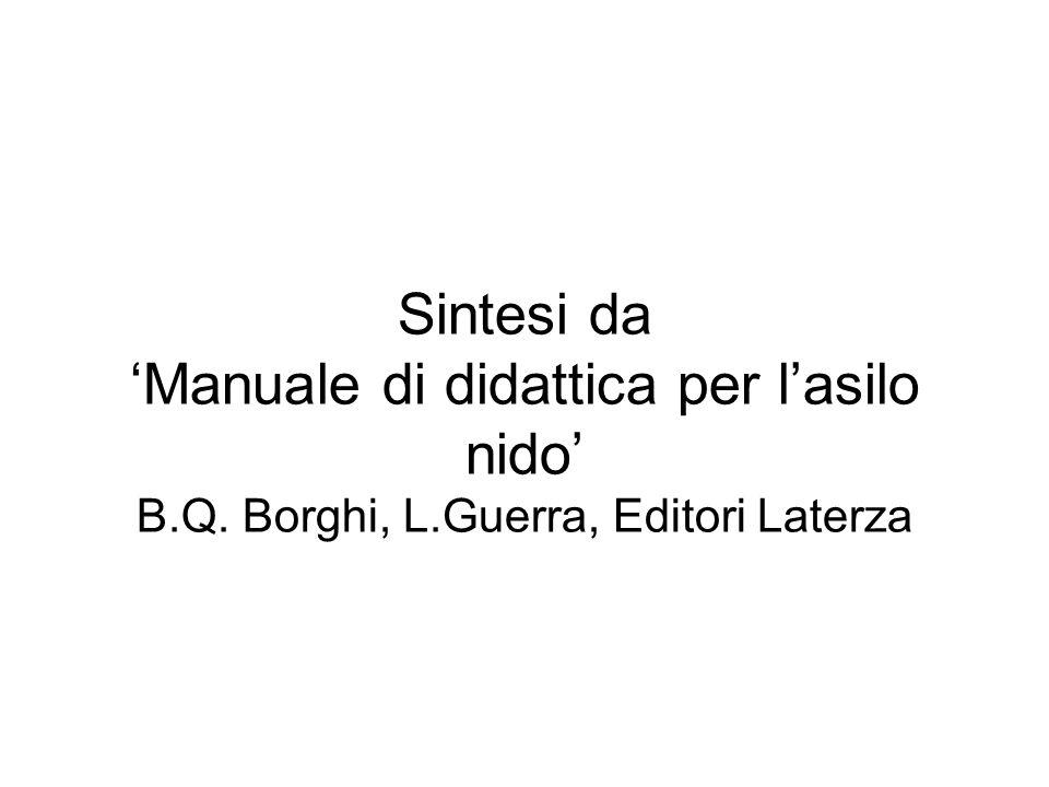 Sintesi da 'Manuale di didattica per l'asilo nido' B. Q. Borghi, L