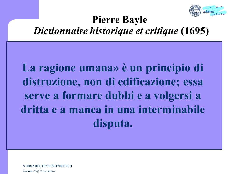 Pierre Bayle Dictionnaire historique et critique (1695)