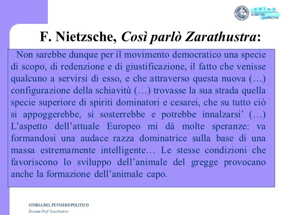 F. Nietzsche, Così parlò Zarathustra: