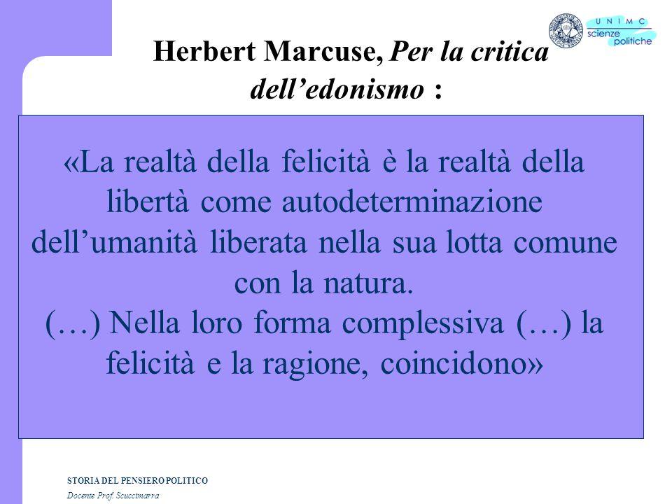 Herbert Marcuse, Per la critica dell'edonismo :