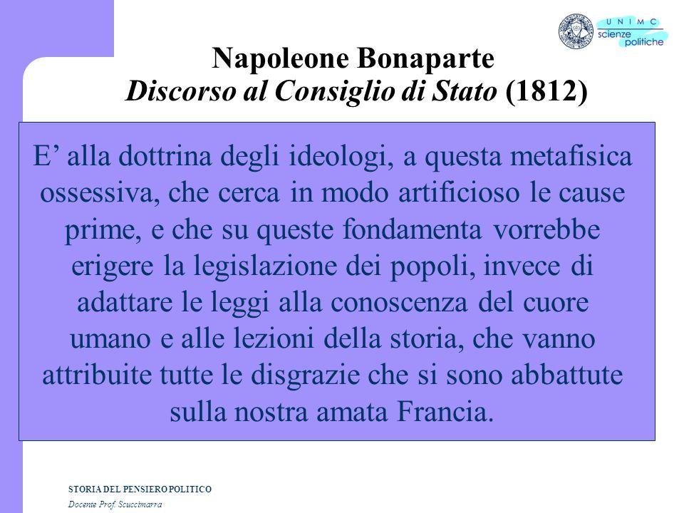 Napoleone Bonaparte Discorso al Consiglio di Stato (1812)