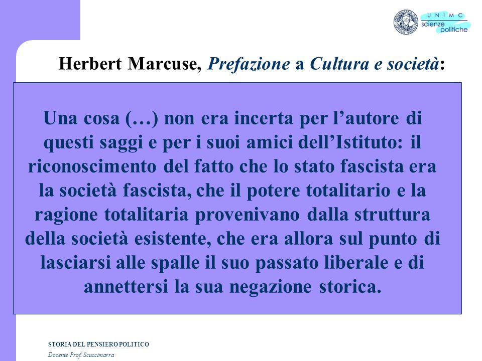 Herbert Marcuse, Prefazione a Cultura e società: