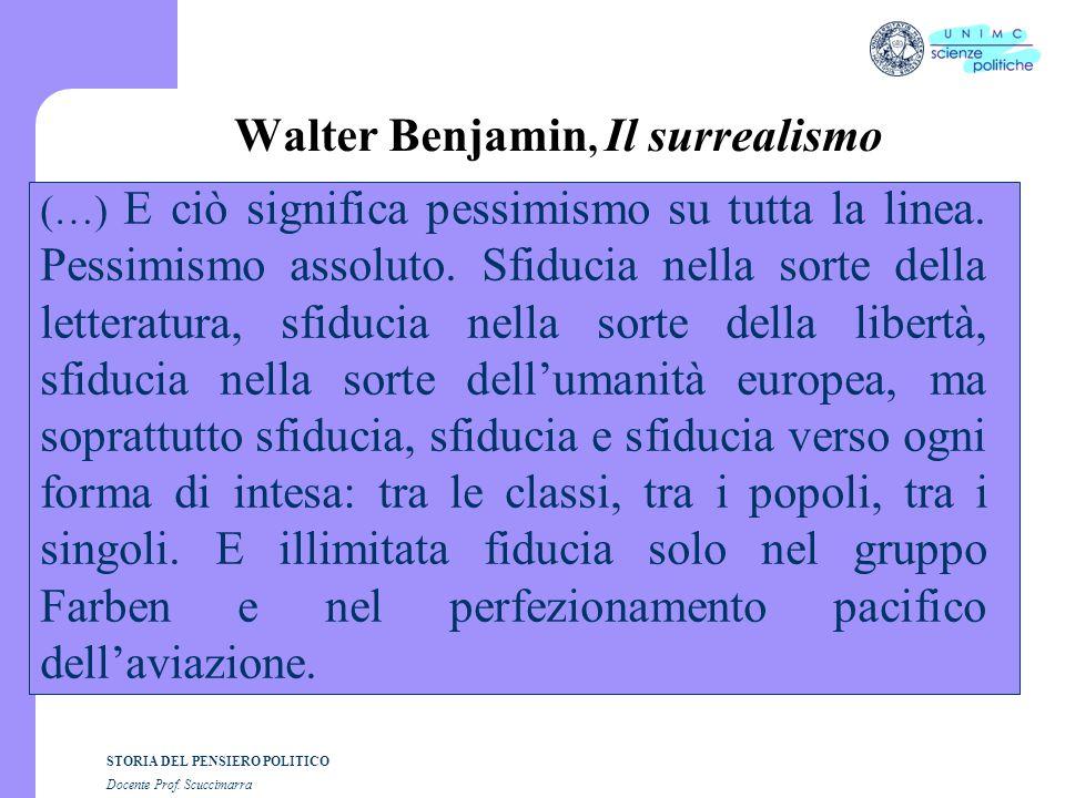 Walter Benjamin, Il surrealismo