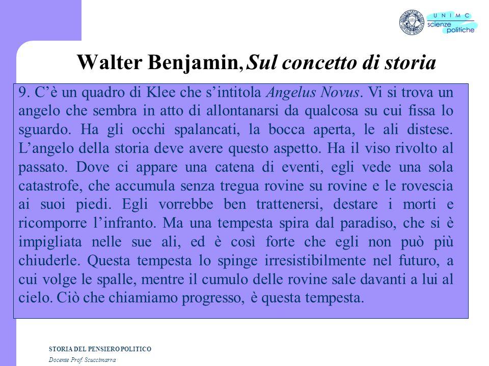 Walter Benjamin, Sul concetto di storia