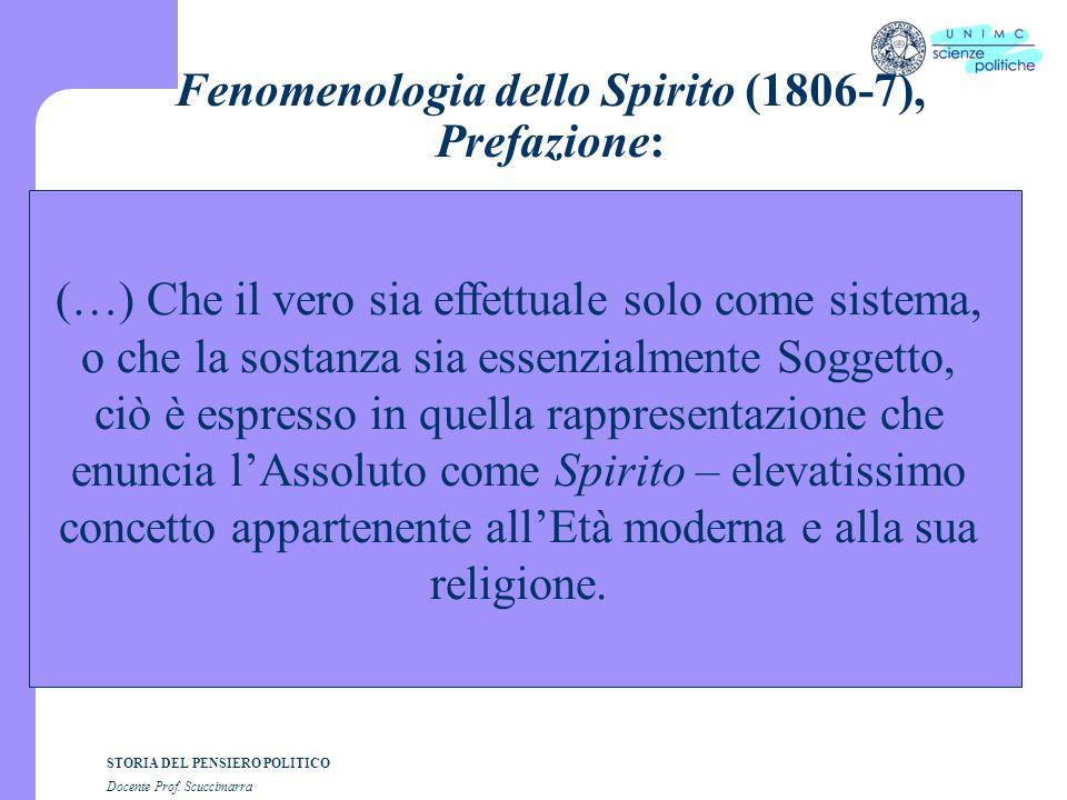 Fenomenologia dello Spirito (1806-7), Prefazione: