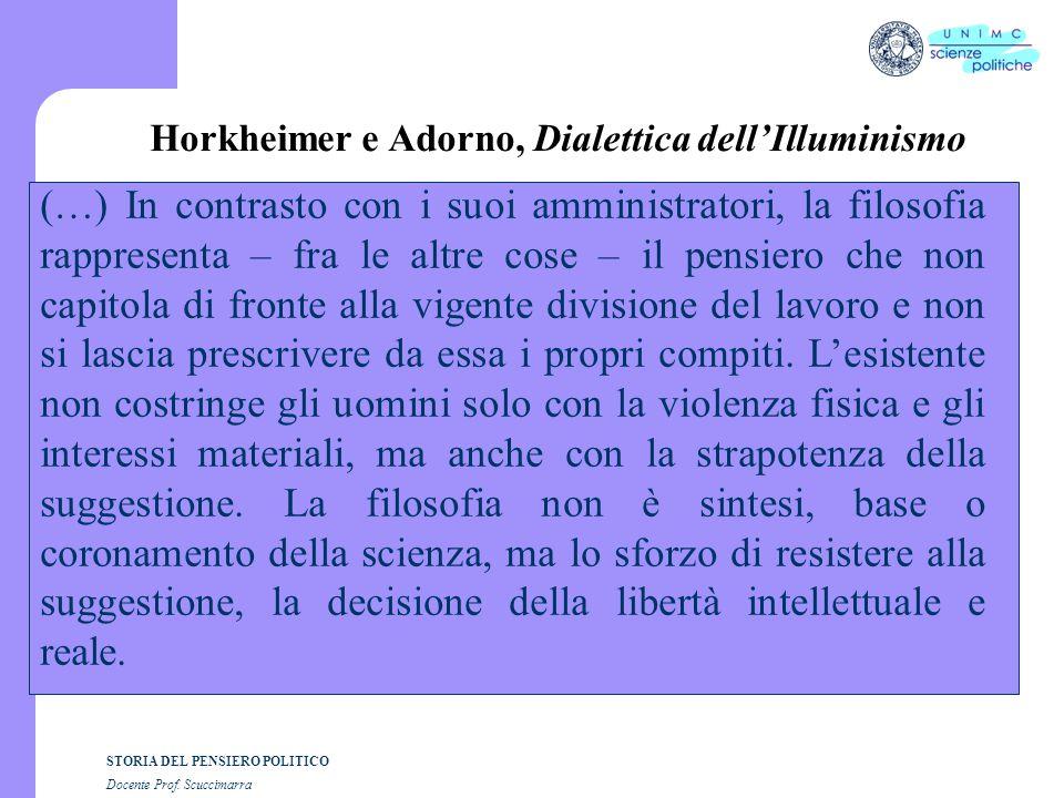 Horkheimer e Adorno, Dialettica dell'Illuminismo