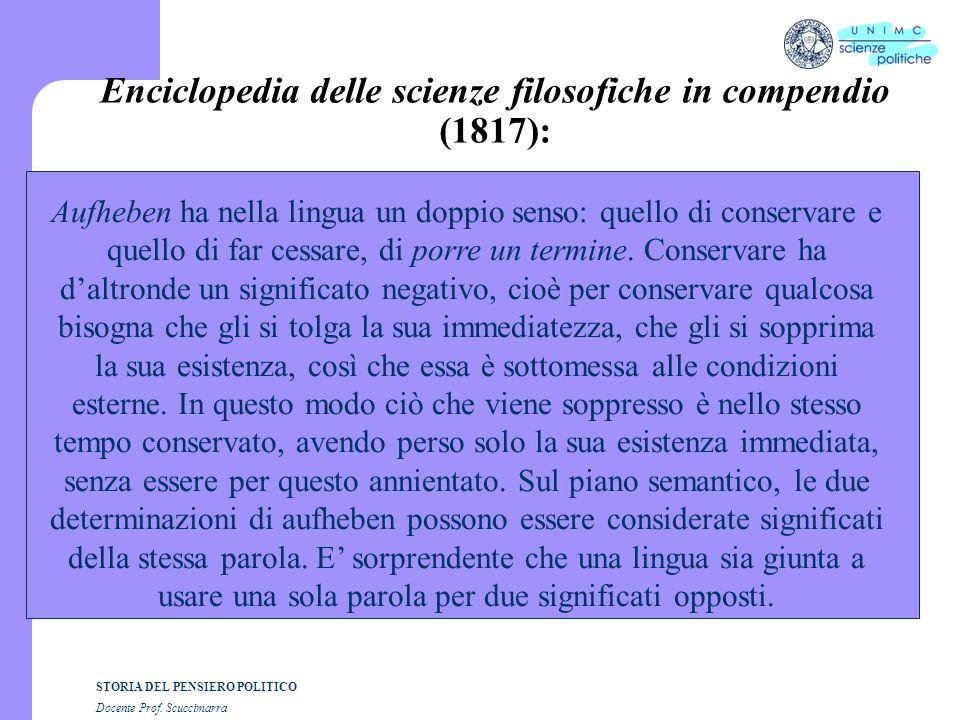 Enciclopedia delle scienze filosofiche in compendio (1817):