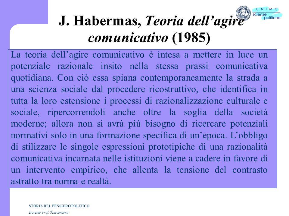 J. Habermas, Teoria dell'agire comunicativo (1985)