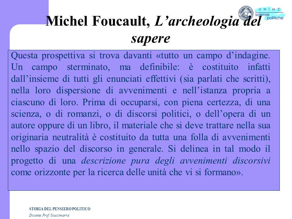 Michel Foucault, L'archeologia del sapere