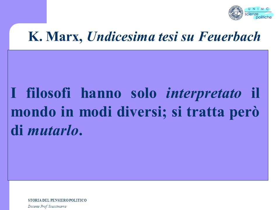 K. Marx, Undicesima tesi su Feuerbach