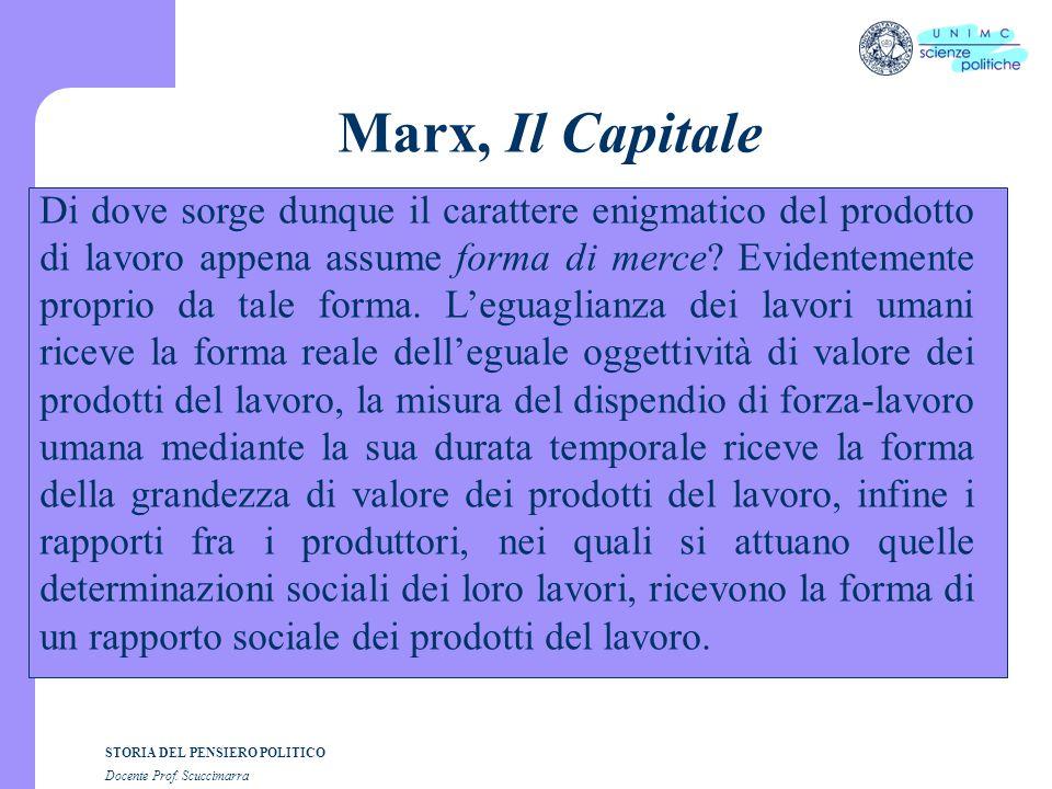Marx, Il Capitale