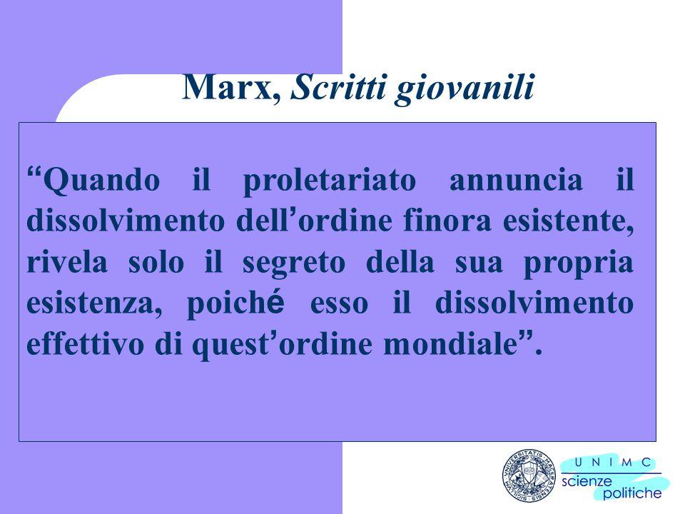 Marx, Scritti giovanili