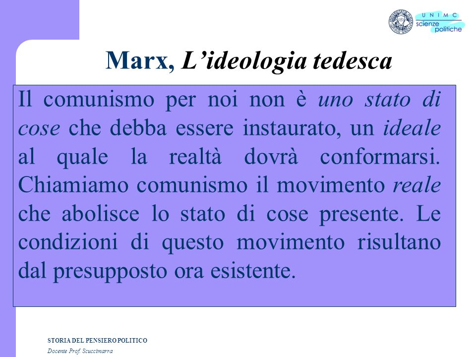 Marx, L'ideologia tedesca