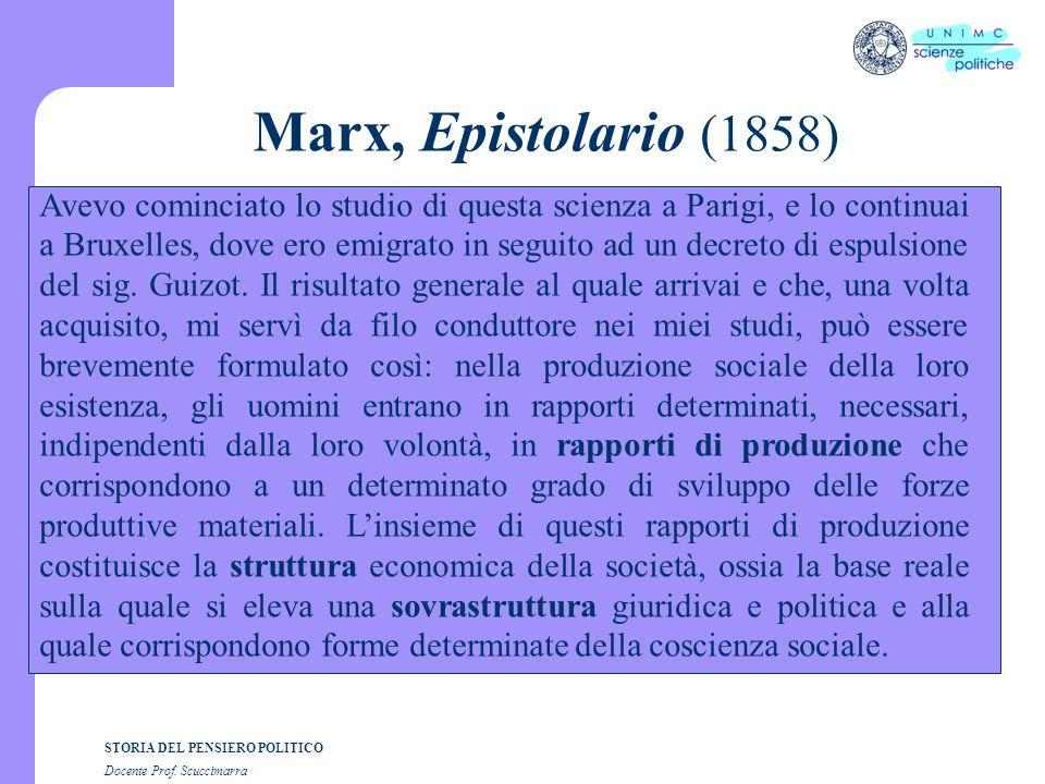 Marx, Epistolario (1858)