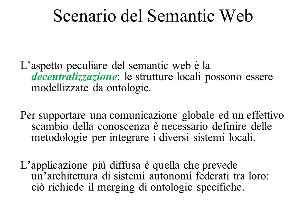 Scenario del Semantic Web