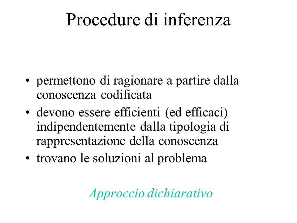 Procedure di inferenza