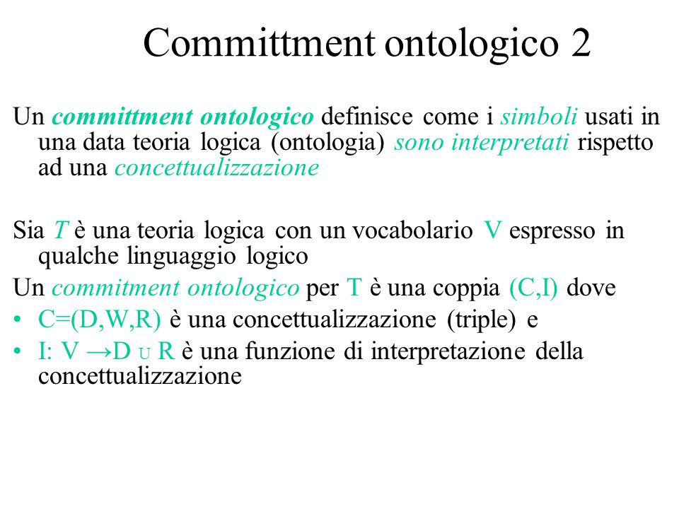 Committment ontologico 2
