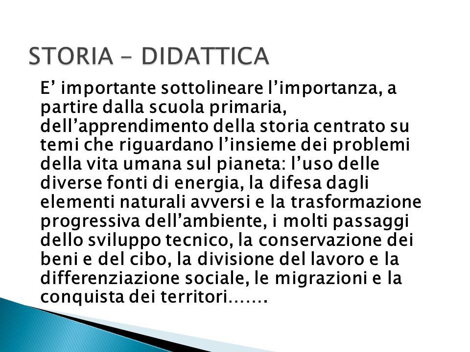 STORIA - DIDATTICA