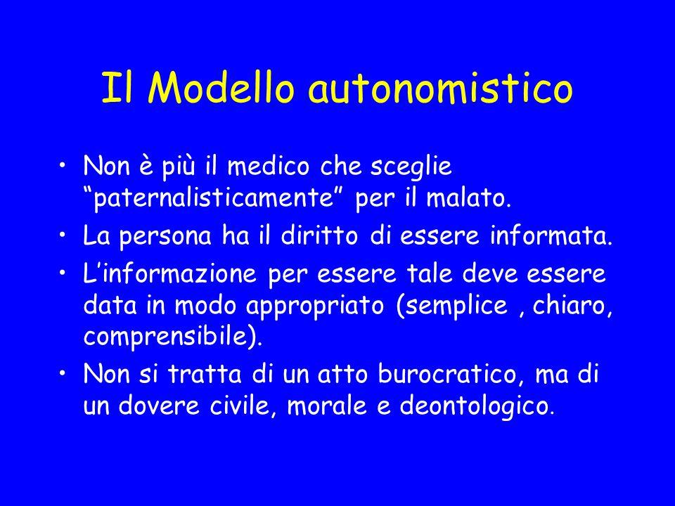 Il Modello autonomistico