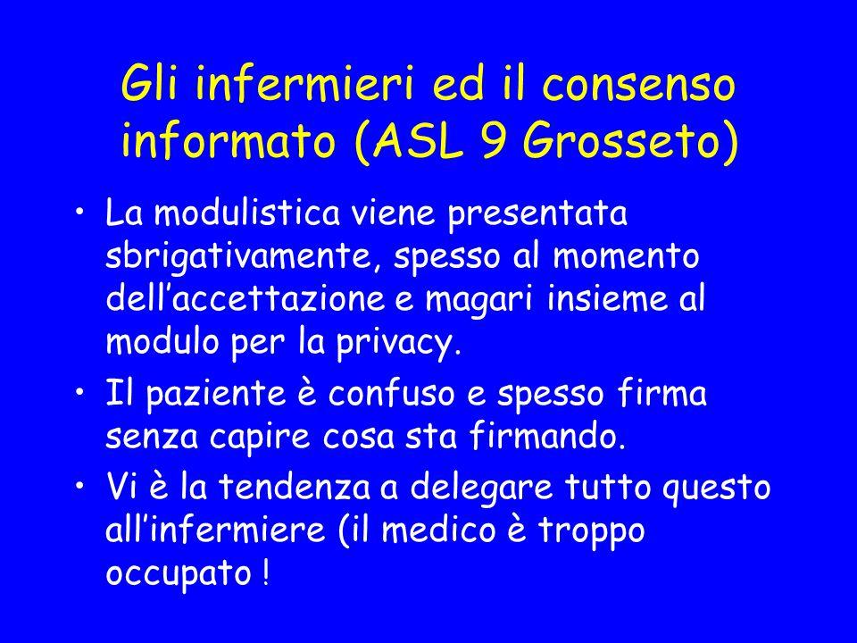 Gli infermieri ed il consenso informato (ASL 9 Grosseto)