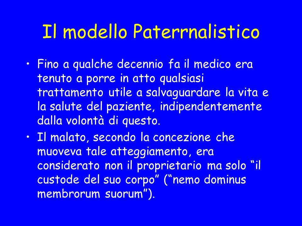 Il modello Paterrnalistico