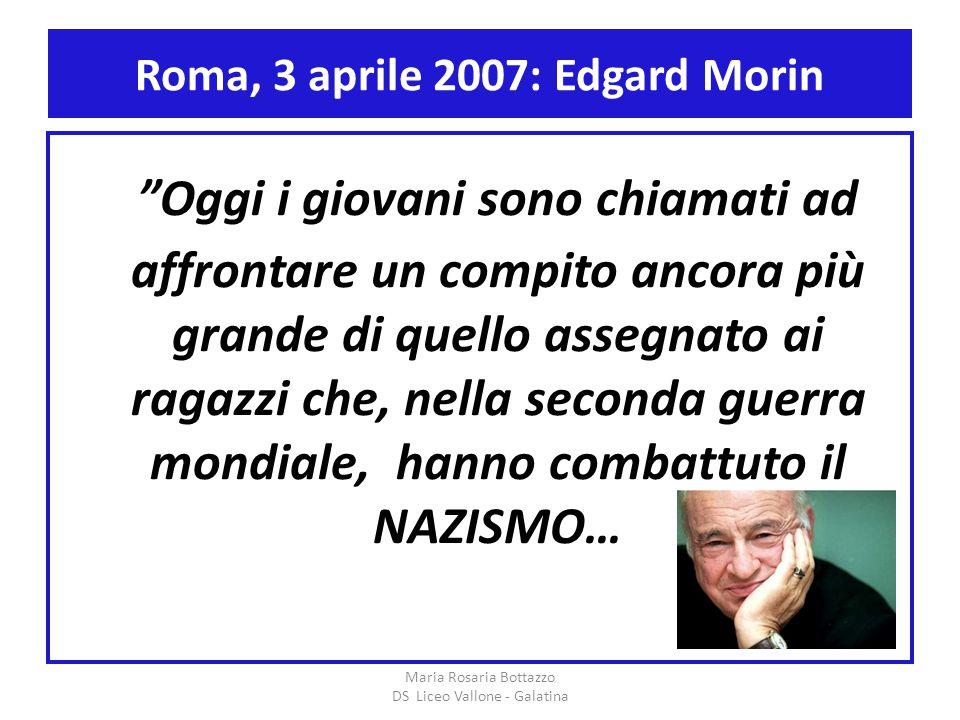 Roma, 3 aprile 2007: Edgard Morin