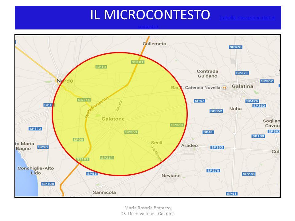 IL MICROCONTESTO (tabella rilevazione dati di contesto)