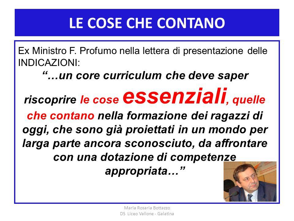 Maria Rosaria Bottazzo DS Liceo Vallone - Galatina
