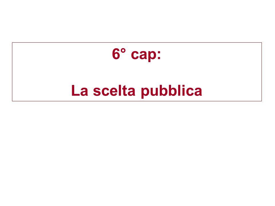 6° cap: La scelta pubblica