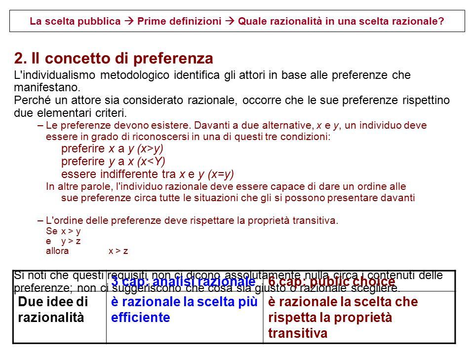 2. Il concetto di preferenza