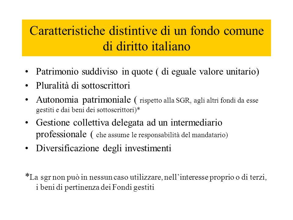 Caratteristiche distintive di un fondo comune di diritto italiano