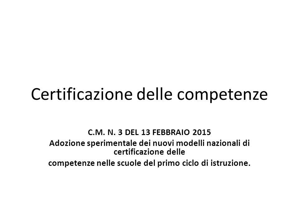 Certificazione delle competenze