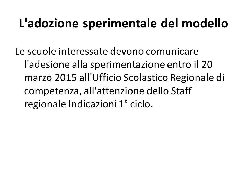 L adozione sperimentale del modello