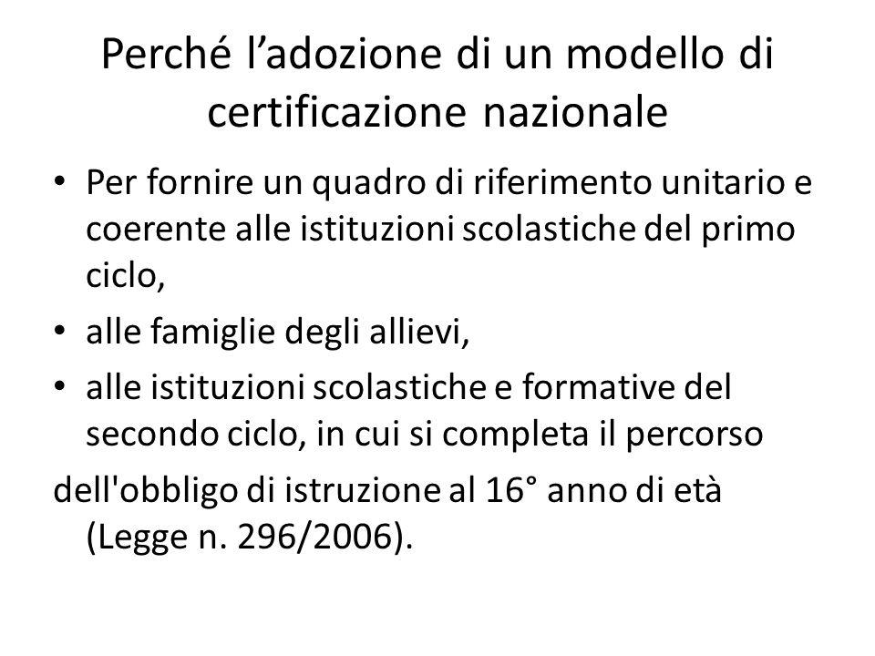 Perché l'adozione di un modello di certificazione nazionale