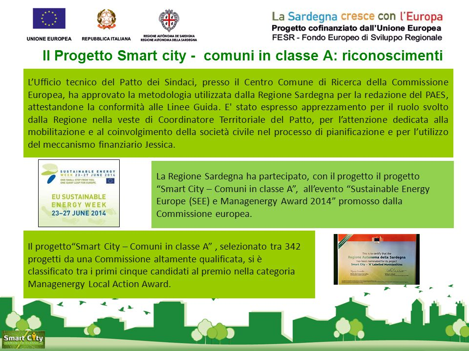 Il Progetto Smart city - comuni in classe A: riconoscimenti