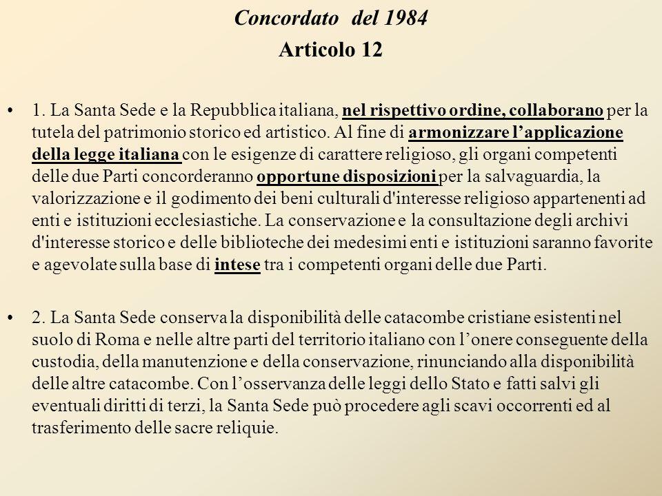 Concordato del 1984 Articolo 12