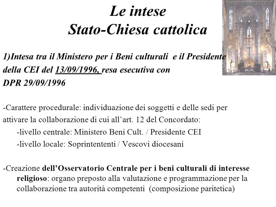 Le intese Stato-Chiesa cattolica