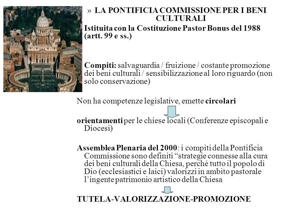 LA PONTIFICIA COMMISSIONE PER I BENI CULTURALI