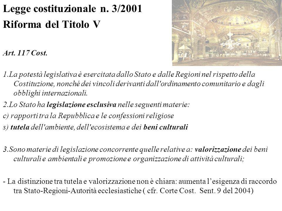 Legge costituzionale n. 3/2001 Riforma del Titolo V