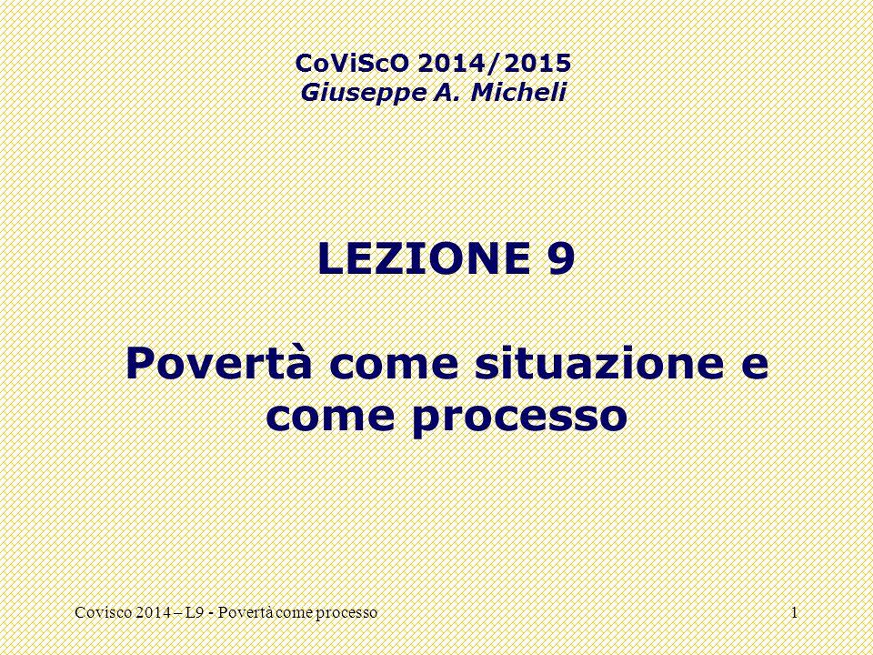 Povertà come situazione e come processo