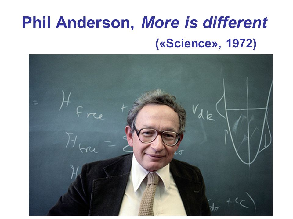 Phil Anderson, More is different